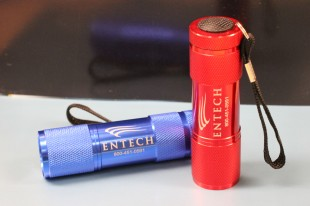 Laser etched LED flashlights